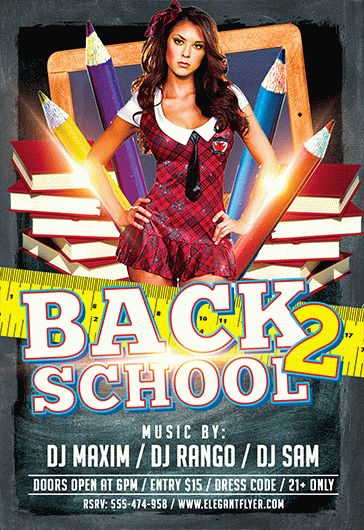 Back 2 School Again PSD Poster \u2013 by ElegantFlyer - back to school flyers