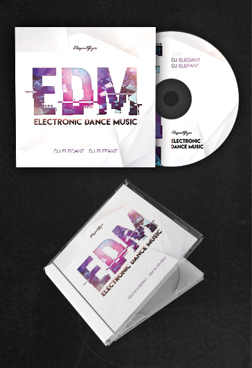 Electro Squad Music CD Cover Template \u2013 by ElegantFlyer