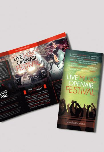 Brochure Design for Music Festival \u2013 by ElegantFlyer