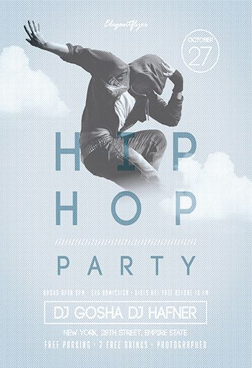 Hip-Hop Party \u2013 Free Flyer PSD Template \u2013 by ElegantFlyer