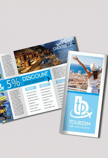 Tourism \u2013 Free PSD Tri-Fold PSD Brochure Template \u2013 by ElegantFlyer - Vacation Brochure Template