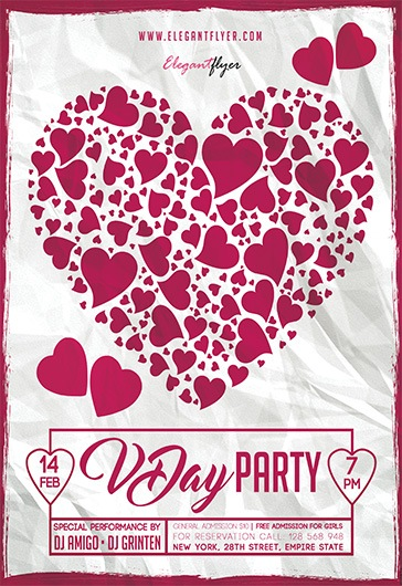 Free Valentine\u0027s Day Flyer Templates in PSD by ElegantFlyer