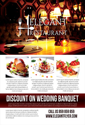 Elegant Restaurant \u2013 Flyer PSD Template \u2013 by ElegantFlyer