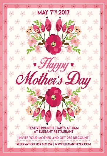 Flyer For Mother Day \u2013 by ElegantFlyer - mothers day flyer