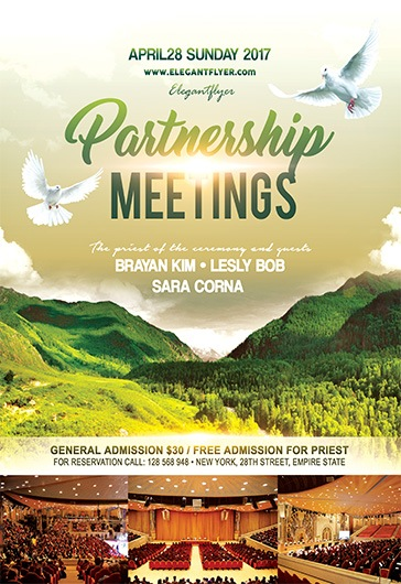 Partnership Meetings \u2013 Flyer PSD Template \u2013 by ElegantFlyer