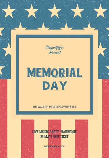 Memorial day \u2013 Free Flyer PSD Template \u2013 by ElegantFlyer