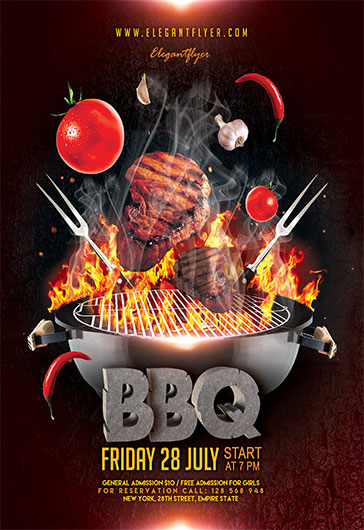 Barbecue(bbq) u2013 Free Flyer PSD Template u2013 by ElegantFlyer - bbq flyer
