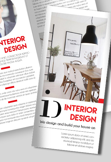 Interior Design Brochure Template Interior Designer Tri Fold - free pamphlet design