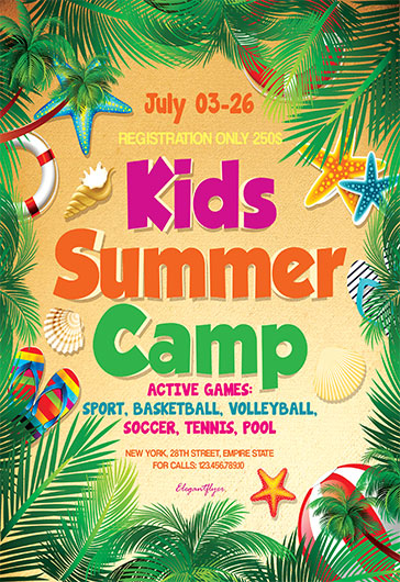 Summer Camp Flyer Summer Camp Flyers Summer Camp Flyer Design - Summer Camp Flyer Template