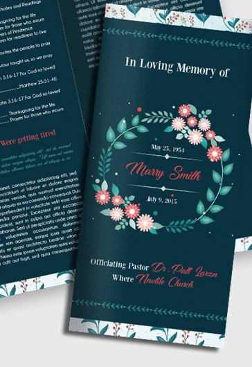 Sample Bi-Fold Brochure Funeral Program \u2013 by ElegantFlyer