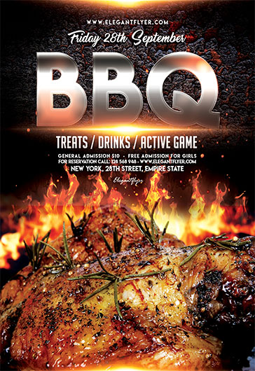 BBQ u2013 Flyer PSD Template + Facebook Cover u2013 by ElegantFlyer - bbq flyer