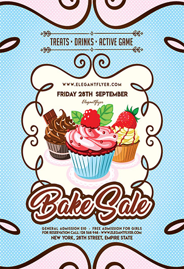 Free Flyer For Bake Sale \u2013 by ElegantFlyer