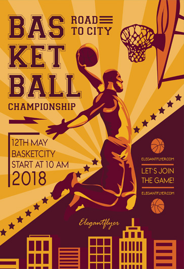Basketball u2013 Free Flyer PSD Template + Facebook Cover u2013 by - basketball flyer example
