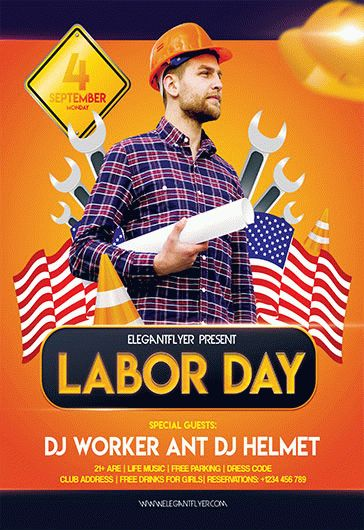 Free Labor Day Flyer Templates by ElegantFlyer - labour day flyer template
