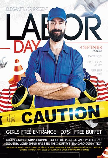 Labor Day Flyer Template \u2013 by ElegantFlyer