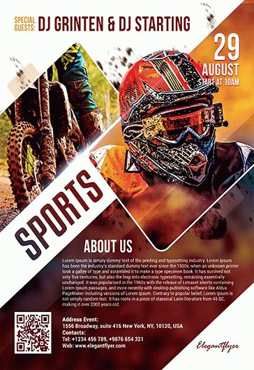 Free Sports Flyer Templates in PSD by ElegantFlyer - free sports flyer templates
