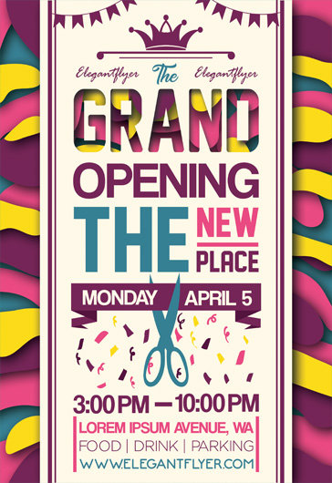 Free Grand Opening Flyer Templates by ElegantFlyer - Grand Opening Flyer