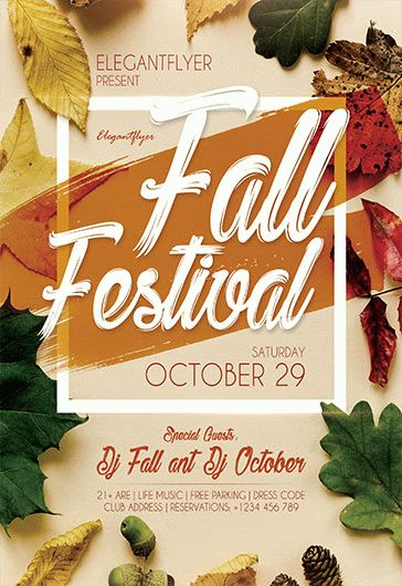 Free Fall Festival Flyer Templates for Phtoshop by ElegantFlyer - fall festival flyer ideas
