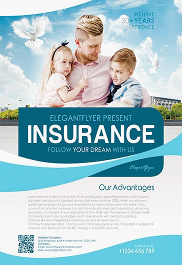 Flyer For Family Insurance \u2013 by ElegantFlyer - insurance flyer templates