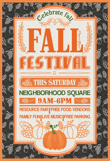 Autumn and Fall Festival Free Flyer Templates for Photoshop by - fall festival flyer ideas