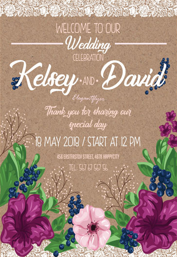 Free Wedding  Event Planning Flyer Templates for Photoshop by