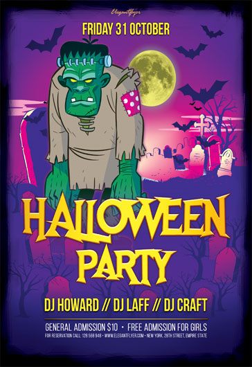 Free Halloween Flyer Templates in PSD by ElegantFlyer - halloween flyer template