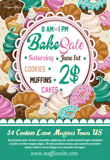 Bake Sale Invitation \u2013 by ElegantFlyer