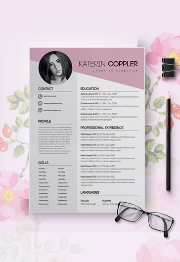 Free Modern Resume Templates for Photoshop ( PSD ) by ElegantFlyer