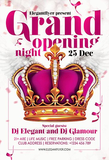 Free Grand Opening Night Flyer Template \u2013 by ElegantFlyer - Grand Opening Flyer