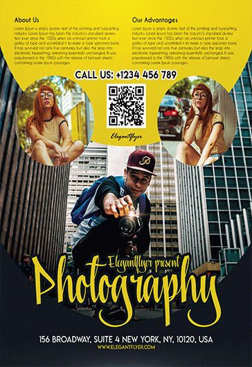 Free Photography Flyer Templates PSD by ElegantFlyer - Photography Flyer