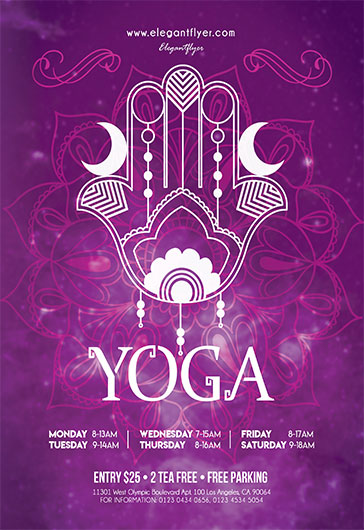 Template for Yoga to the People \u2013 by ElegantFlyer - yoga flyer