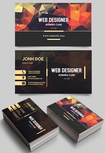 Web Designer \u2013 Premium Business Card Templates PSD \u2013 by ElegantFlyer - web designer business card