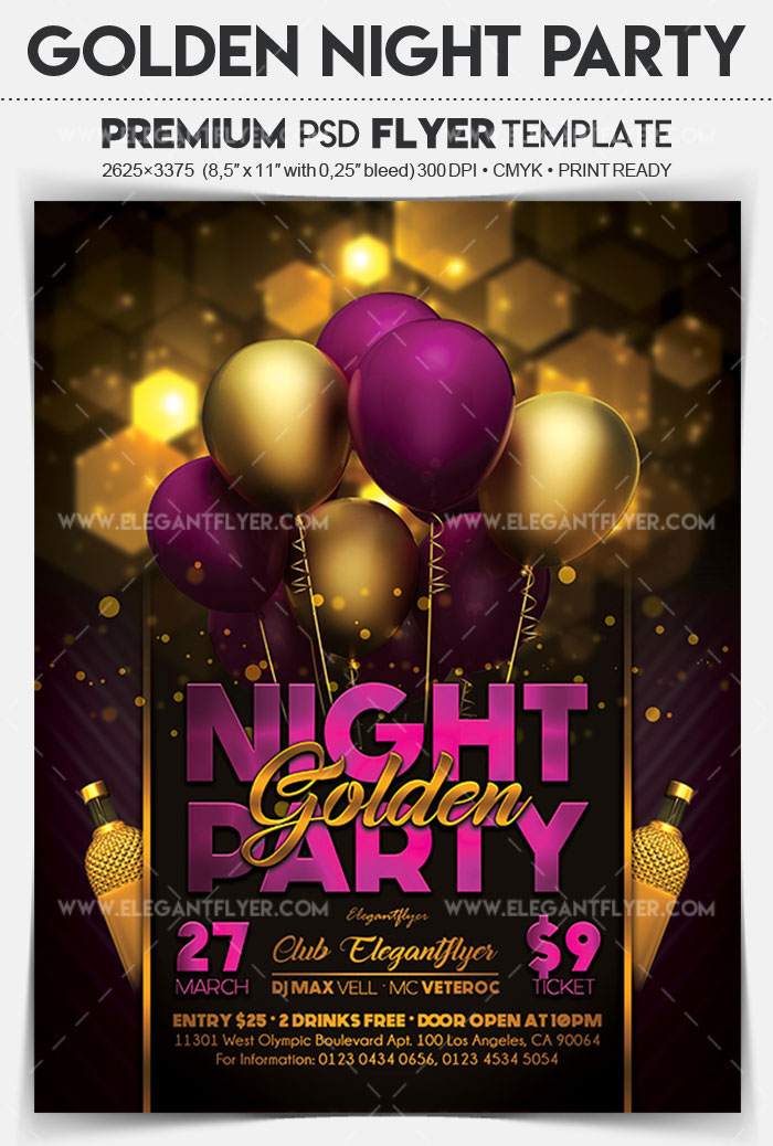 20 Exclusive PSD Flyer Templates for night clubs, restaurants, bars