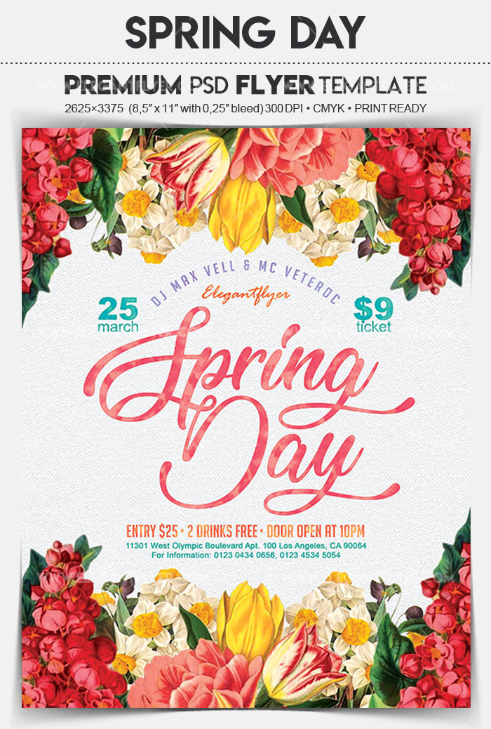Are you ready for Spring? 20 Awesome PSD Flyer Templates for Spring - spring flyer template