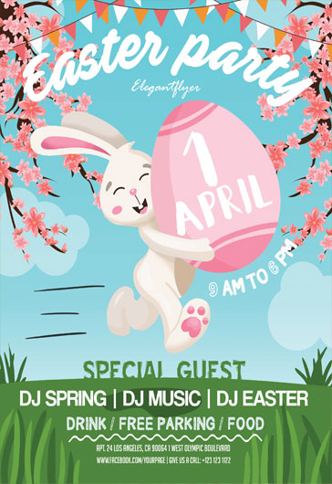 Free Easter Flyers Templates in PSD by ElegantFlyer - easter flyer template