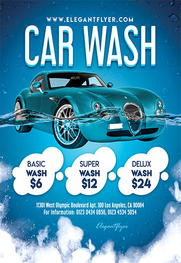 Car Show and Car Wash Free Flyer Templates for Photoshop by - car wash flyer template