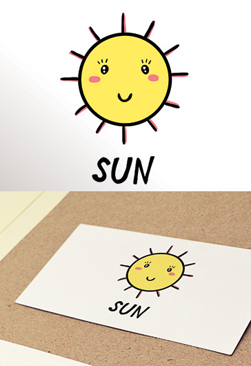 Free Logo Templates for Photoshop and Illustrator by ElegantFlyer - small sun template