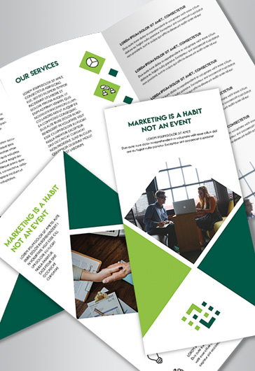 Free Brochure Templates in PSD by ElegantFlyer - Tri Fold Brochures Free