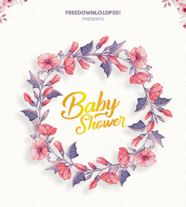 20 Free and Premium Baby Shower Invitation Templates in PSD by