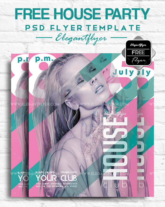 May 2018 20 Fresh PSD Free  Premium Party Flyers Templates! by