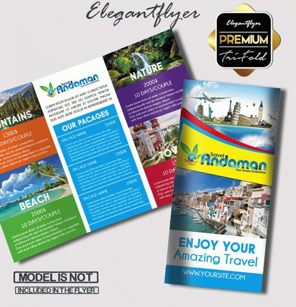 Top 20+ Free Vacation  Travel Brochure Templates in PSD by