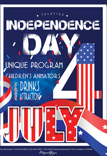 July 4th Independence Day Flyers Templates by ElegantFlyer
