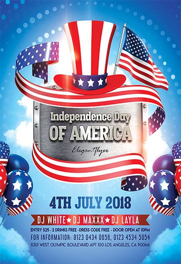 Independence Day \u2013 Flyer PSD Template \u2013 by ElegantFlyer