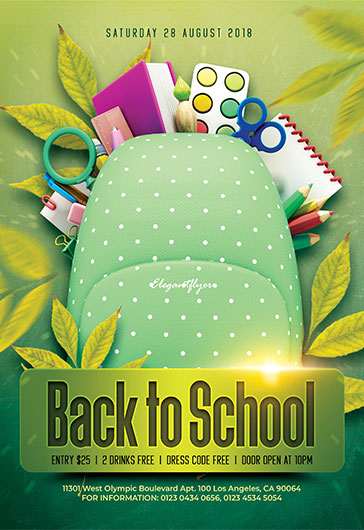Free Back to School Flyers Templates for Photoshop by ElegantFlyer