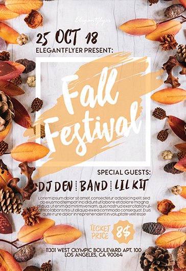 Autumn / Fall Flyer Templates by ElegantFlyer