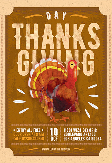 Thanksgiving Flyer Templates by ElegantFlyer