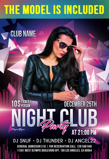 Free Club Flyers Templates in PSD by ElegantFlyer