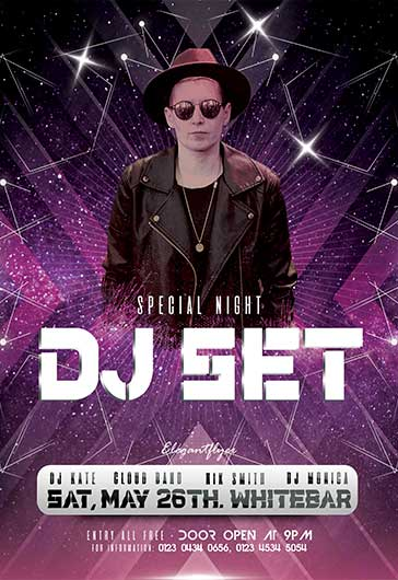 Free DJ Flyer Templates PSD by ElegantFlyer
