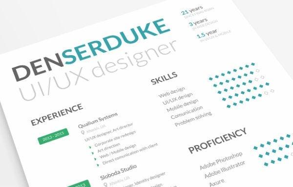 20+ Free Resume Design Templates for Web Designers Elegant Themes Blog - ui designer resume