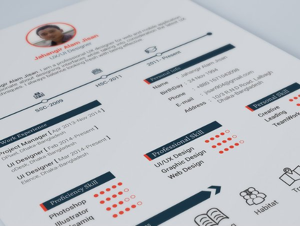 20+ Free Resume Design Templates for Web Designers Elegant Themes Blog - Free Graphic Design Resume Templates